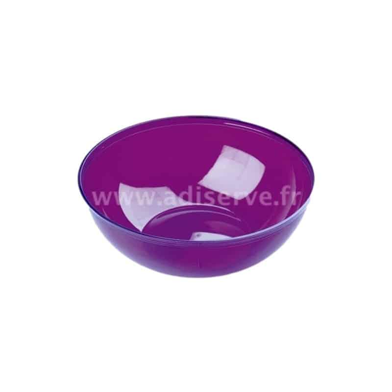 saladier plastique jetable aubergine 3 5 l assiettes coupelles saladiers couleur adiserve. Black Bedroom Furniture Sets. Home Design Ideas