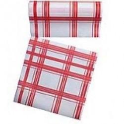 Rouleau de 30 serviettes jetables détachables rouges 23.6 cm x 23.6 cm