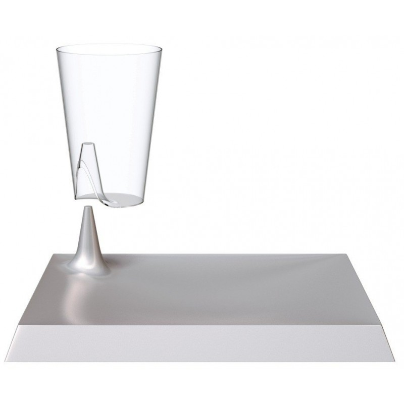 lunch concept lux by starck assiette carr e argent verre cristal par 6 assiettes starck. Black Bedroom Furniture Sets. Home Design Ideas