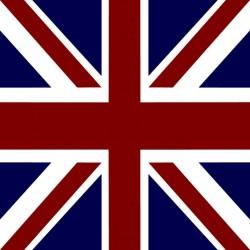 Serviette cocktail Françoise Paviot drapeau anglais, en intissé 25x25 cm par 20