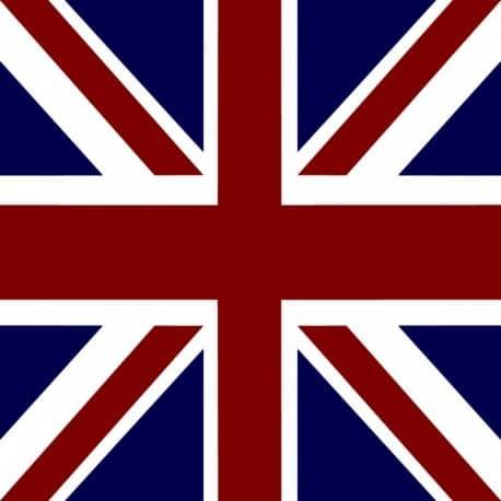 Serviette cocktail drapeau anglais,papier jetable intissé 25x25 cm par 20