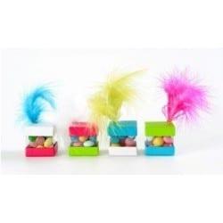 Boite cube pour dragées par 6, 4 couleurs