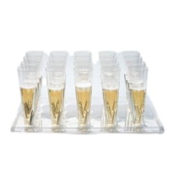 Plateau cristal Starck pour flûtes et verres
