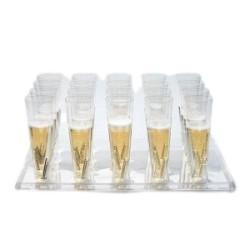 Plateau présentoir transparent STARCK 20 picots pour flûtes ou verres