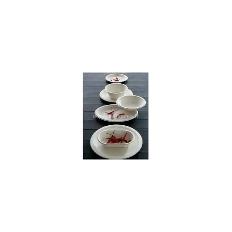 assiette fibre canne sucre 18 cm par 50 vaisselle jetable ecologique biodegradable et. Black Bedroom Furniture Sets. Home Design Ideas