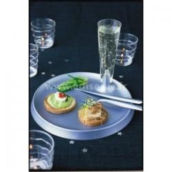 Assiette ronde STARCK plastique jetable 23 cm par 6, 3 coloris