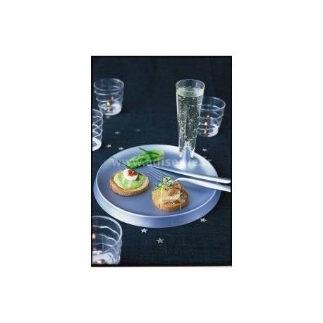 Assiette plastique rigide Starck ronde cristal par 6