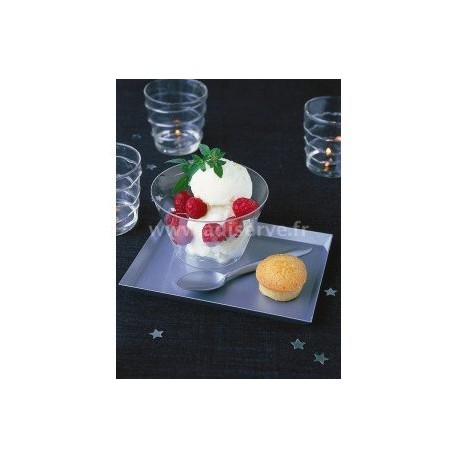 Soucoupe Lux By Starck rectangulaire 16x12cm cristal par 25