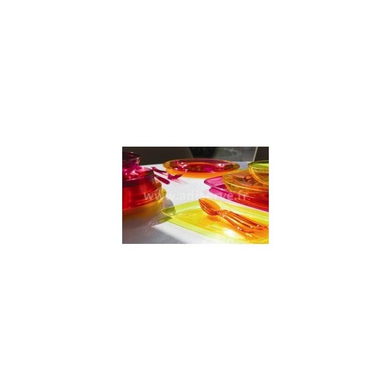 assiette ronde 23 cm plastique r utilisable couleur aubergine par 6 assiettes plastiques. Black Bedroom Furniture Sets. Home Design Ideas