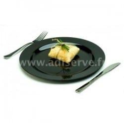 Assiette plastique rigide ronde 23 cm réutilisable par 20