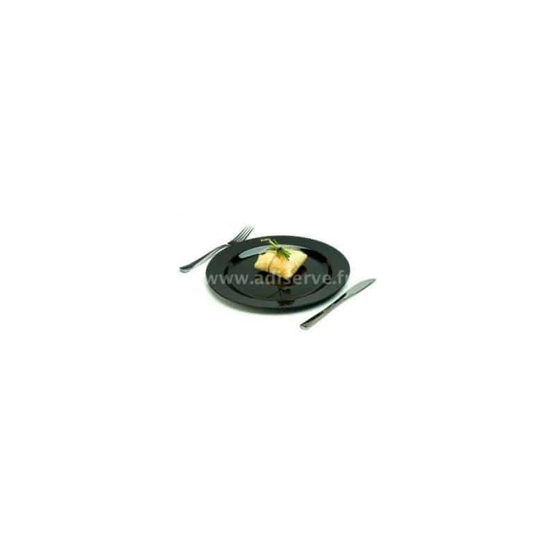 assiette jetable plastique rigide noire 23 cm par 20 assiettes plastiques jetables et ou. Black Bedroom Furniture Sets. Home Design Ideas