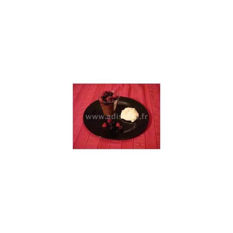 assiette ronde 23 cm noire plastique r utilisable par 20 assiettes rones et carr es adiserve. Black Bedroom Furniture Sets. Home Design Ideas