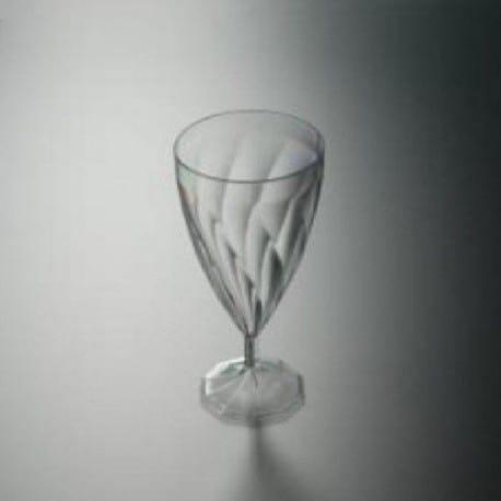 Verre à vin effet torsadé en plastique transparent par 6