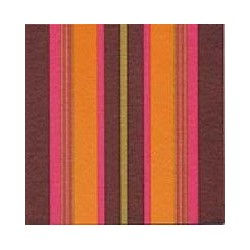 Serviette cocktail Françoise Paviot stripes gold, en intissé 25x25 cm par 20