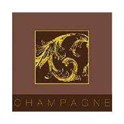 Serviette cocktail champagne, papier jetable intissé 25x25 cm par 20