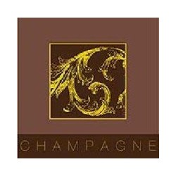 Serviette cocktail jetable Champagne 25 cm par 20