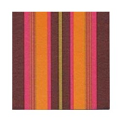Serviette jetable jetable stripes gold, en intissé 40 cm par 20