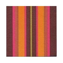 Serviette de table intissé motif Rayures Orange Or 40x40 cm