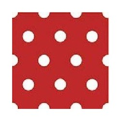 Serviette jetable rouge & pois blancs 40 cm par 20
