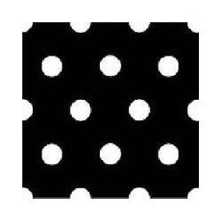 Serviette de table en intissé noire à pois blancs 40x40 cm par 20