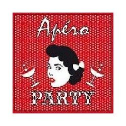 Serviette cocktail Françoise Paviot Apéro party, en intissé 25x25 cm par 20