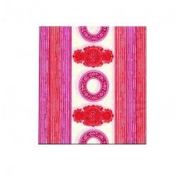 Serviette jetable Orient rose 40 cm par 20