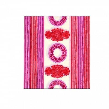Serviette papier jetable Orient rose, en intissé 40 cm par 20