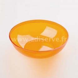 Coupelle plastique rigide réutilisable orange 40 cl par 4