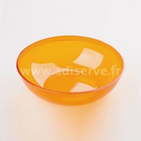 Coupelle ou bol orange plastique réutilisable 400 ml par 4