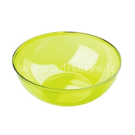 Saladier plastique jetable vert anis 3.5L