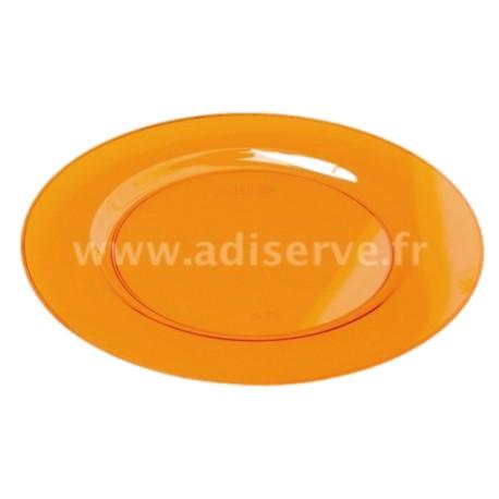 Sous-assiette ronde 30 cm orange par 4
