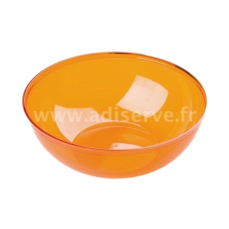Saladier orange plastique réutilisable 3.5 L