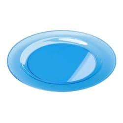 Sous-assiette ronde plastique rigide turquoise 30 cm par 4