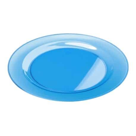 Sous-assiette ronde plastique turquoise 30 cm par 4