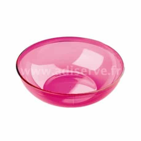 Saladier plastique réutilisable 3.5 L coloris framboise