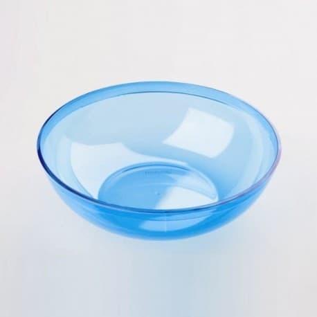 Coupelle bol plastique jetable couleur turquoise 400 ml par 4