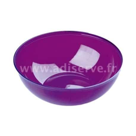 Saladier plastique jetable aubergine 3.5 L