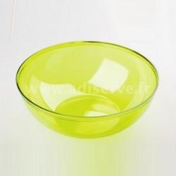 Coupelle ou bol vert anis plastique réutilisable 400 ml par 4