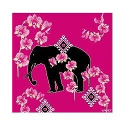 Serviette cocktail intissé motif éléphant 25x25 cm par 20