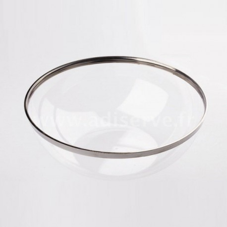 Coupelle transparente filet argent réutilisable 400 ml par 4
