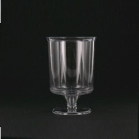 Verre à pied cristal rigide 16 cl plastique jetable par 10