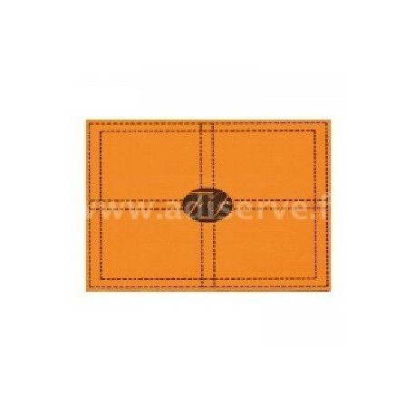 Set de table papier jetable Seller orange par 10