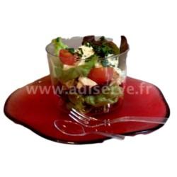Mini fourchette plastique jetable cristal transparent par 50