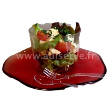 Mini fourchette plastique jetable cristal par 50
