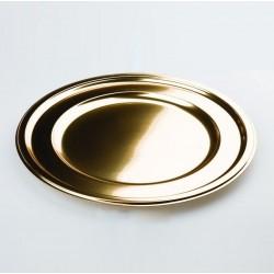 Assiette plastique jetable ronde 30.5cm OR par 4