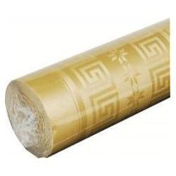 Nappe papier damassé 1,20m x 6m Or