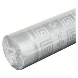 Nappe jetable en papier damassé 1.20 x 6 m argent