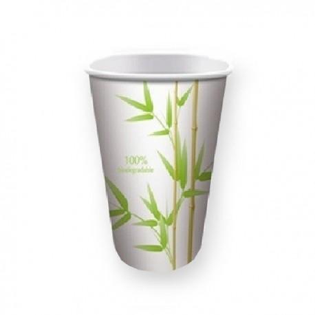 Gobelet jetable biodégradable décor bambou 20 cl par 50