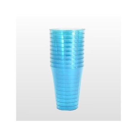 Verre plastique jetable beu turquoise 20 cl par 10