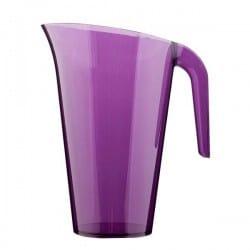Carafe plastique aubergine 1.5 L réutilisable